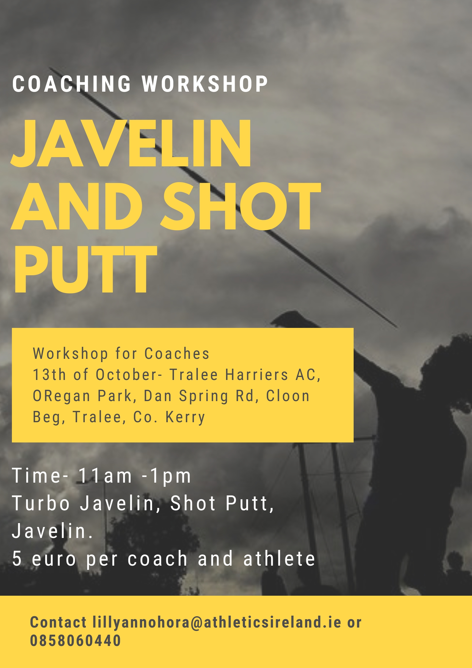 Introduction to Javelin (+Turbo) and Shot Putt