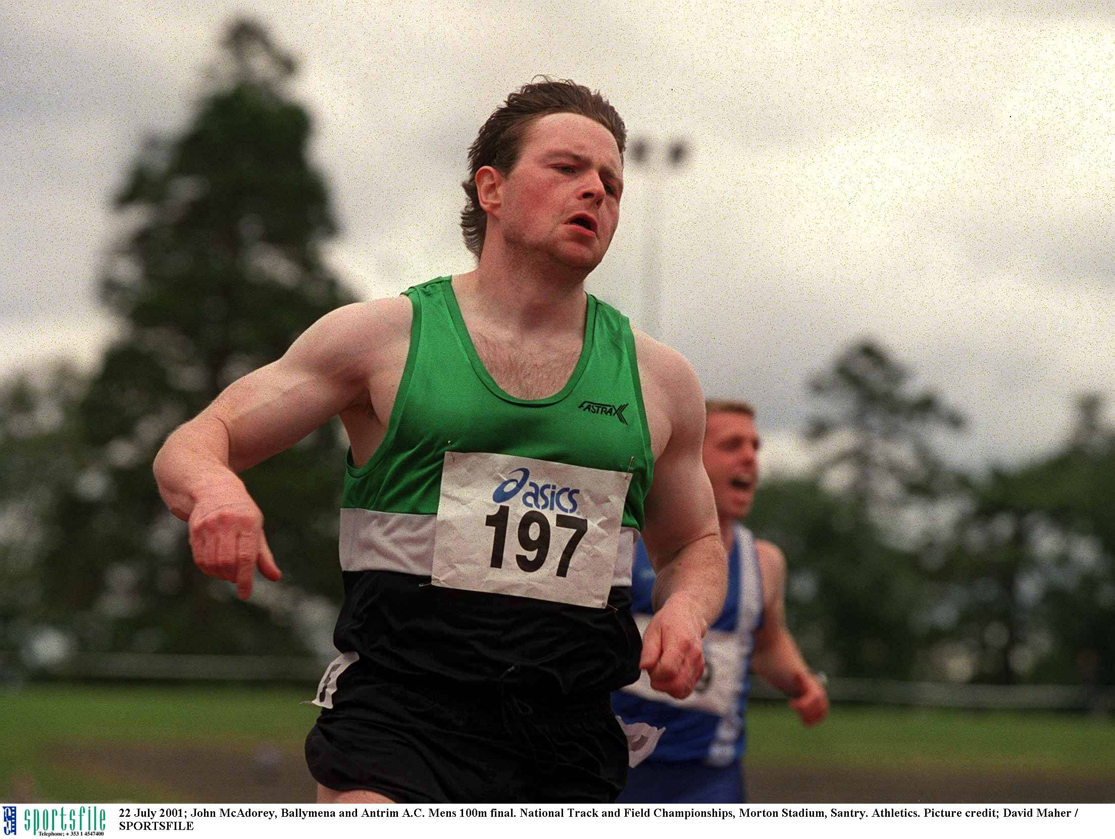John McAdorey, Irish Olympic sprinter from Ballymena has died aged 45