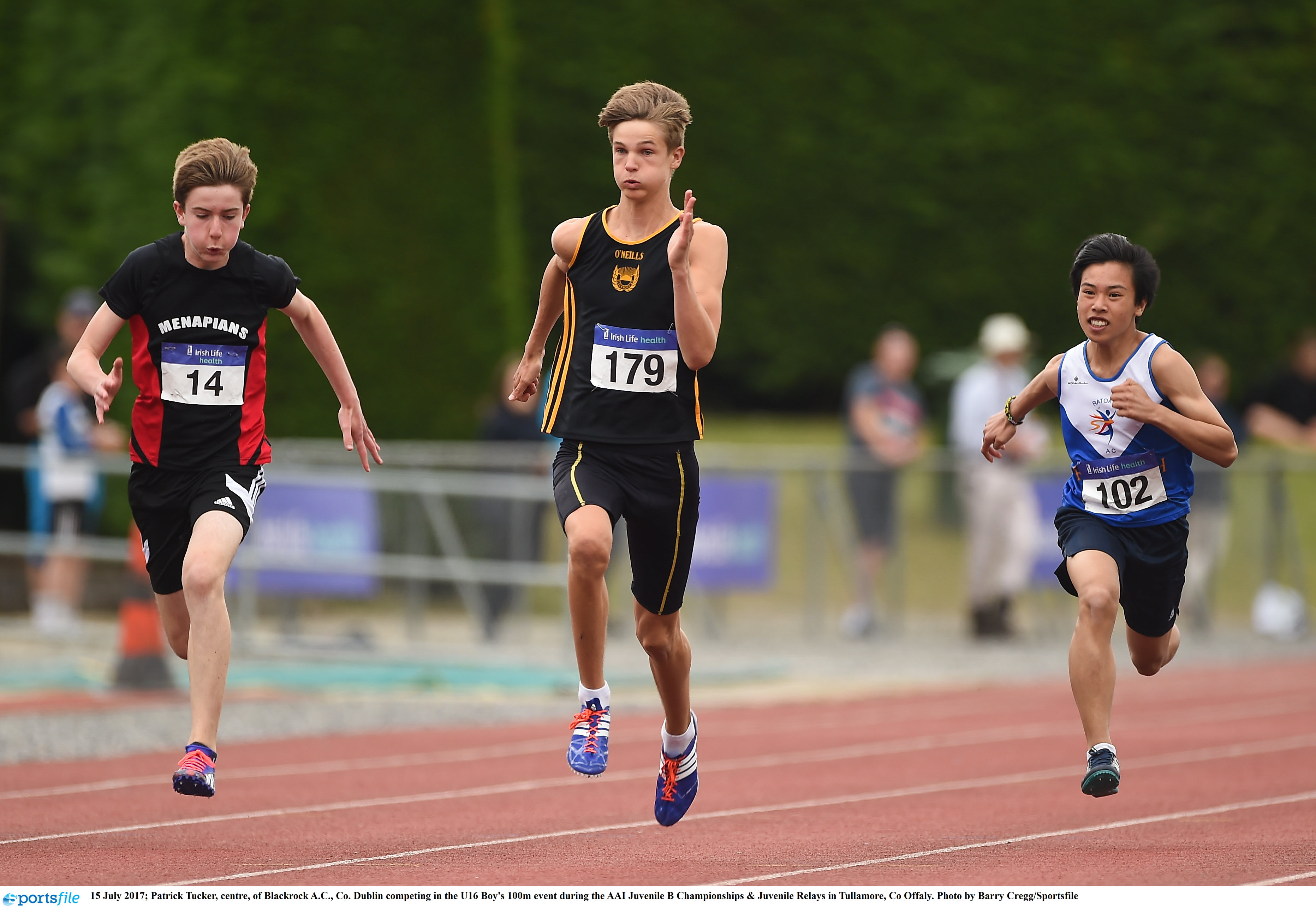 Entry lists for the Juvenile B Championships & Inter Club Relays