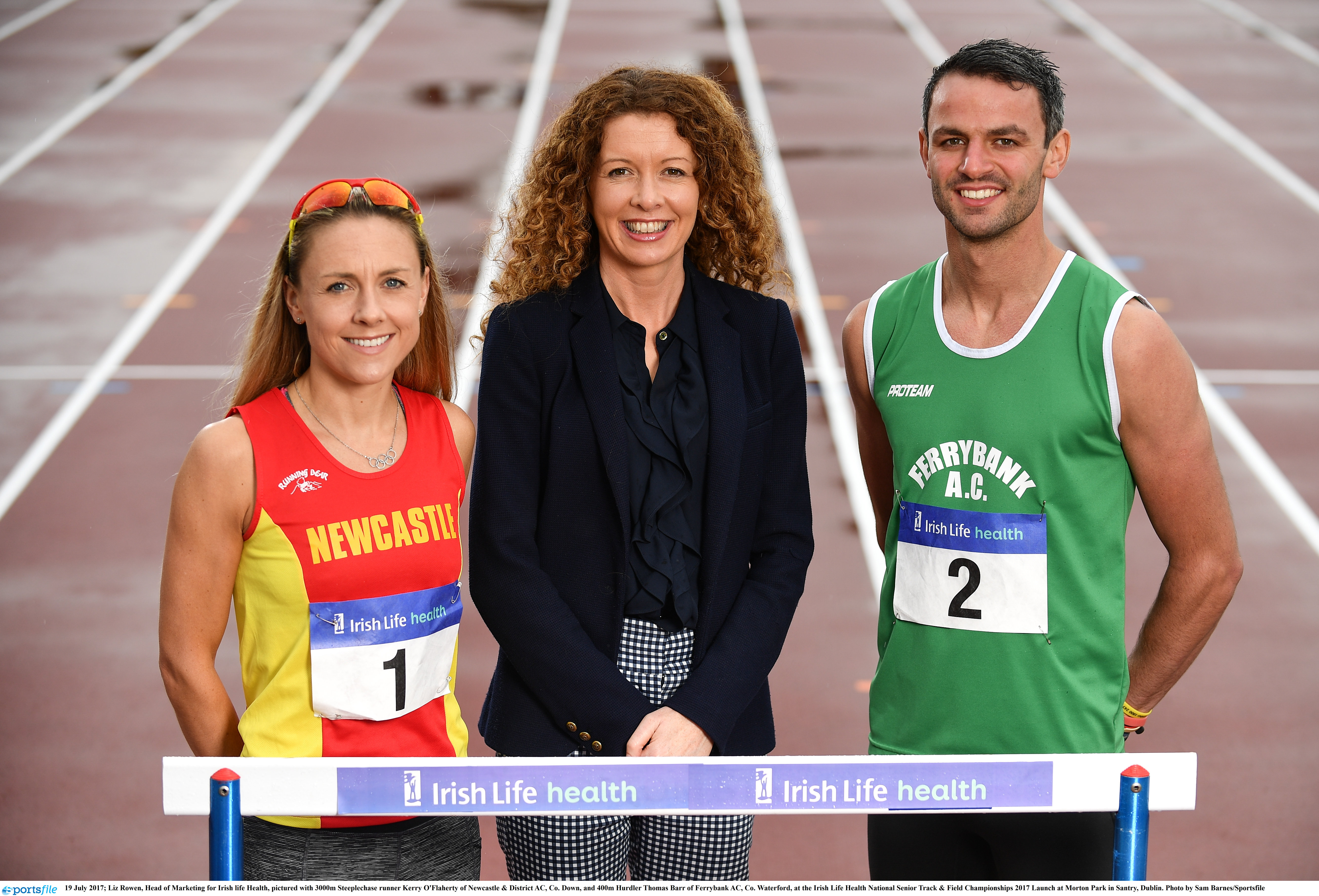 Barr & O'Flaherty launch Irish Life Health National Senior Track & Field Championships