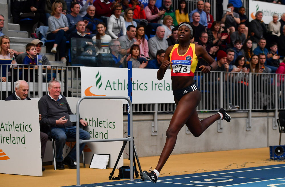 NEW IRISH INDOOR RECORD FOR RHASIDAT ADELEKE