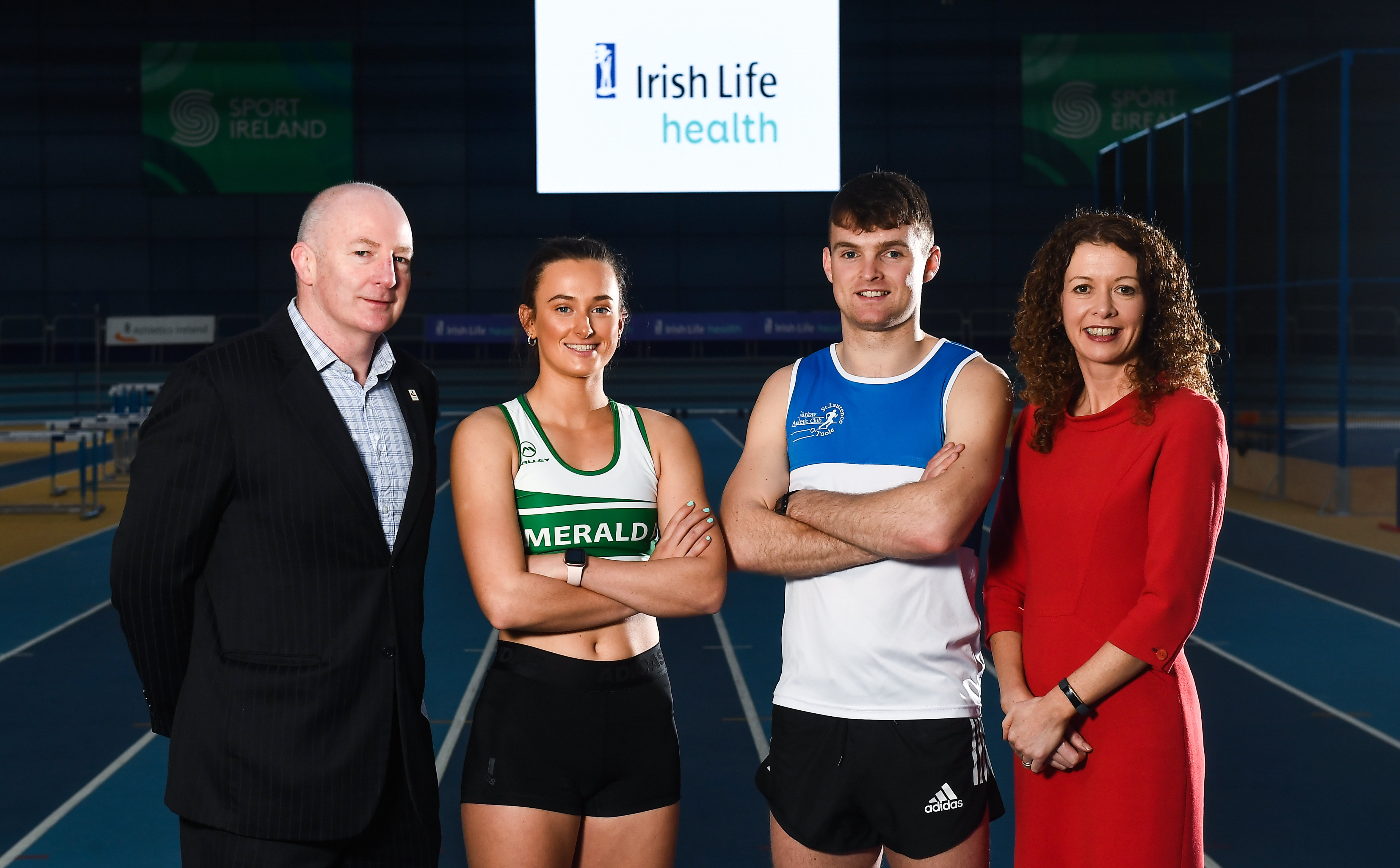 Lawler and Neville launch Irish Life Health National Senior Indoor Championships