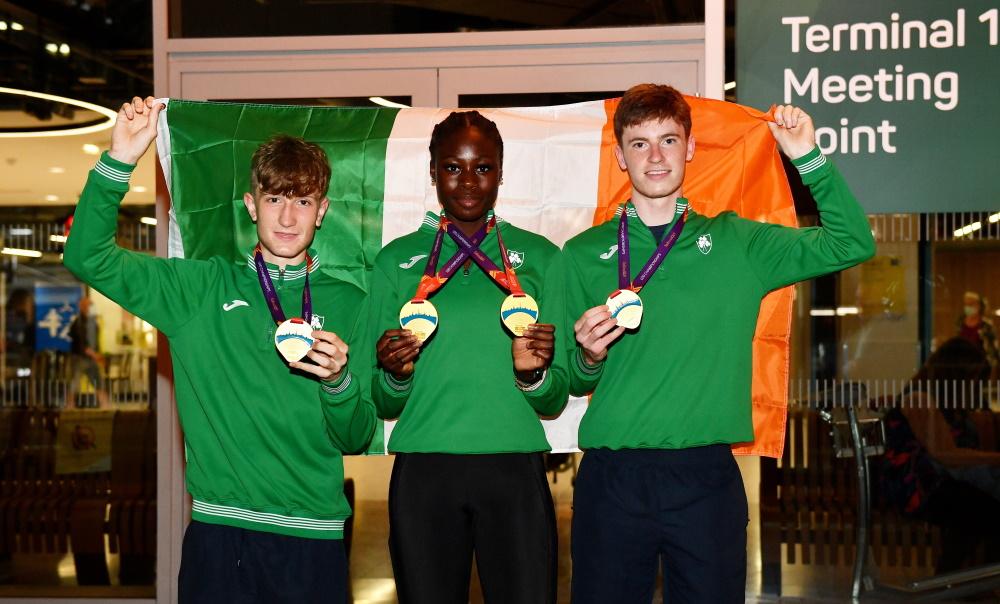 Irish U20 team return home with record medal haul