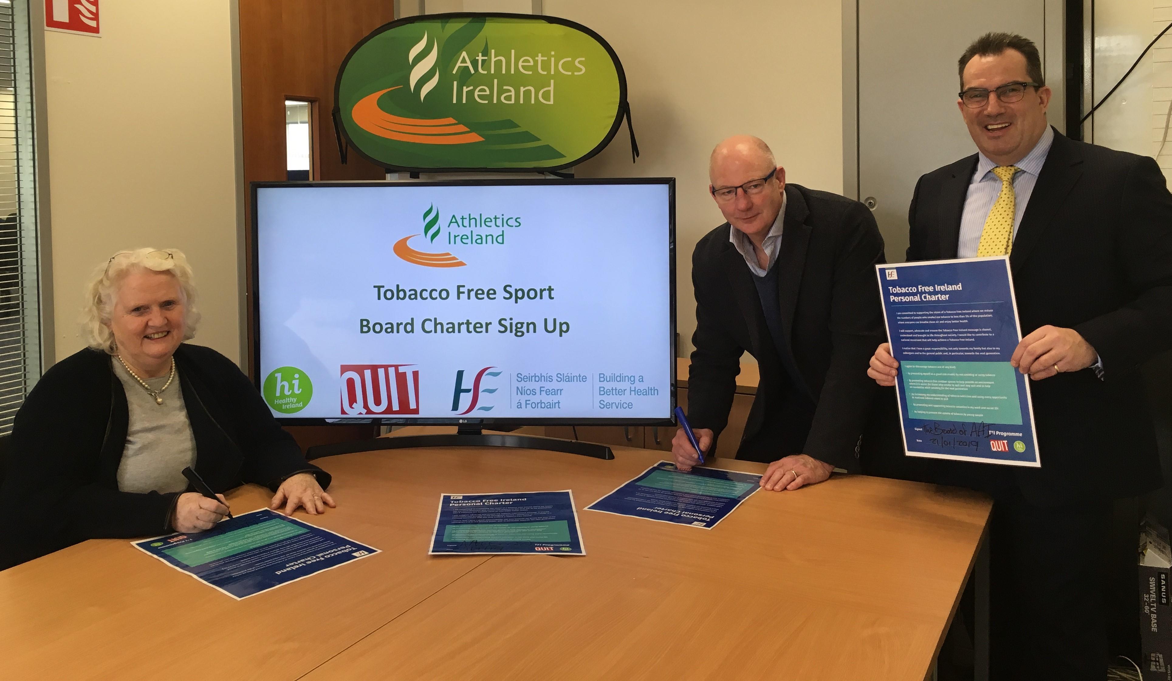 Athletics Ireland commits to the Tobacco Free Sport charter