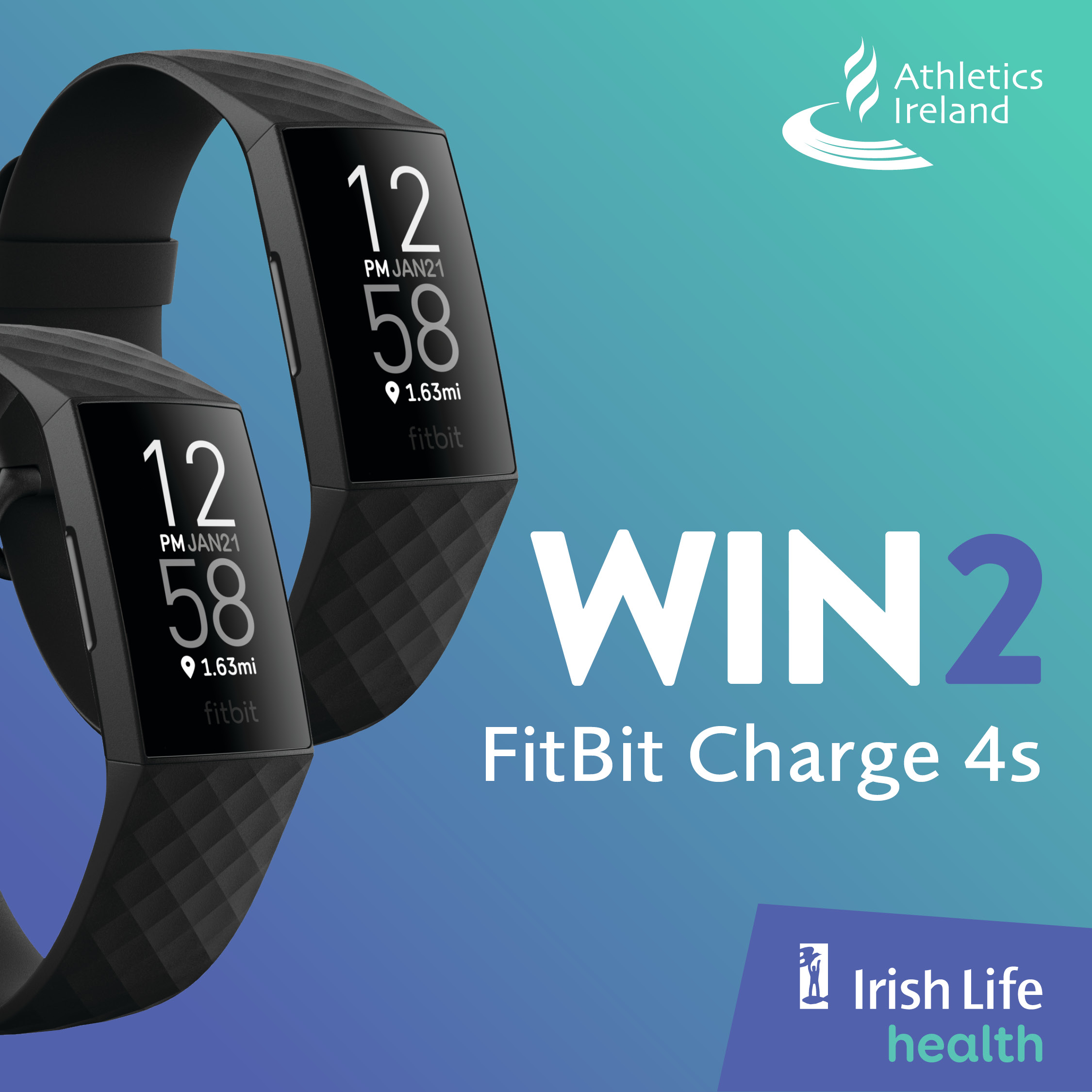 Win 2 FitBit Charge 4s with our official partner Irish Life Health