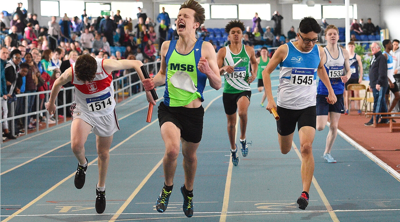 Thrilling relays round out Juvenile Indoors