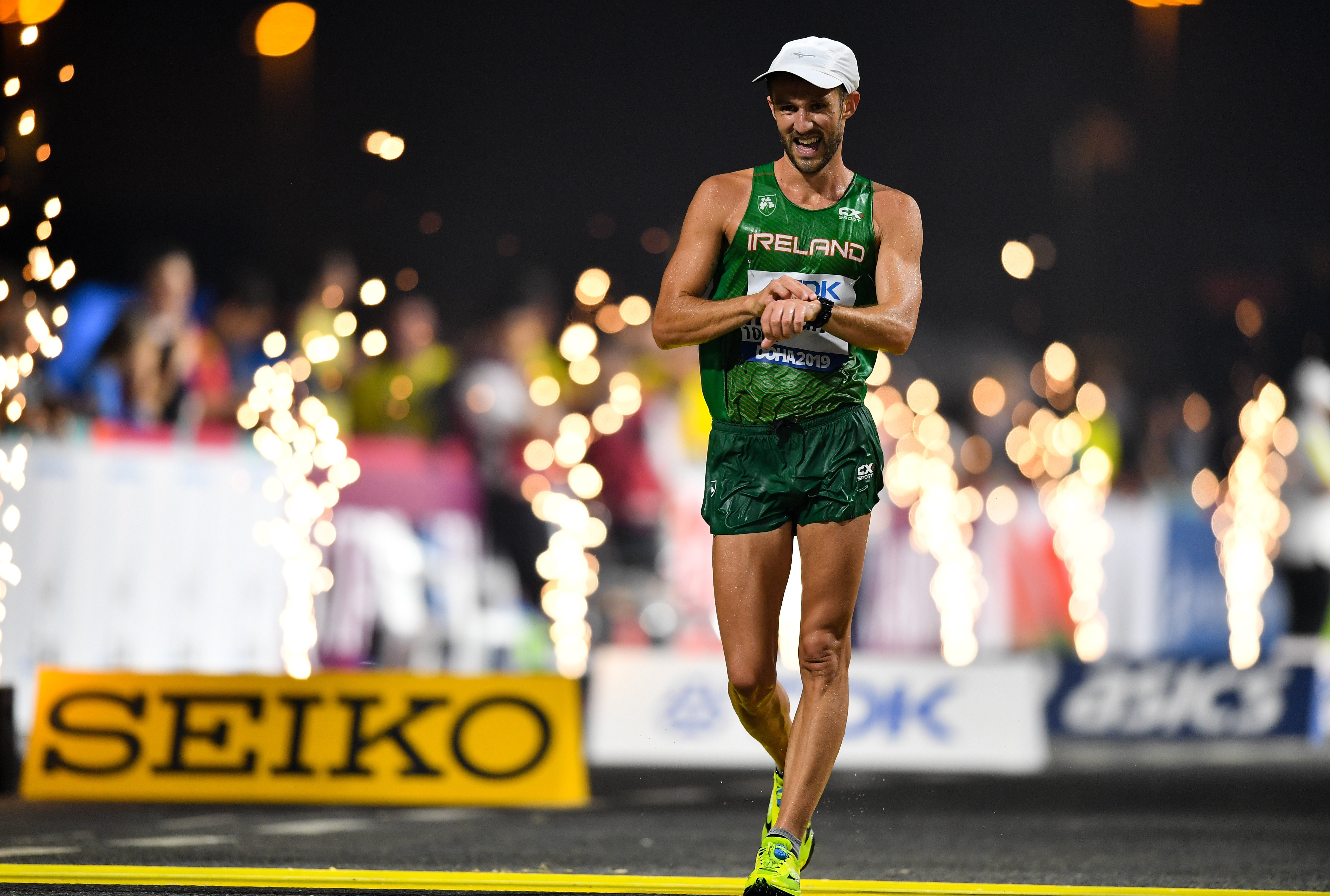 Wright battles to 31st in men's 20km race walk