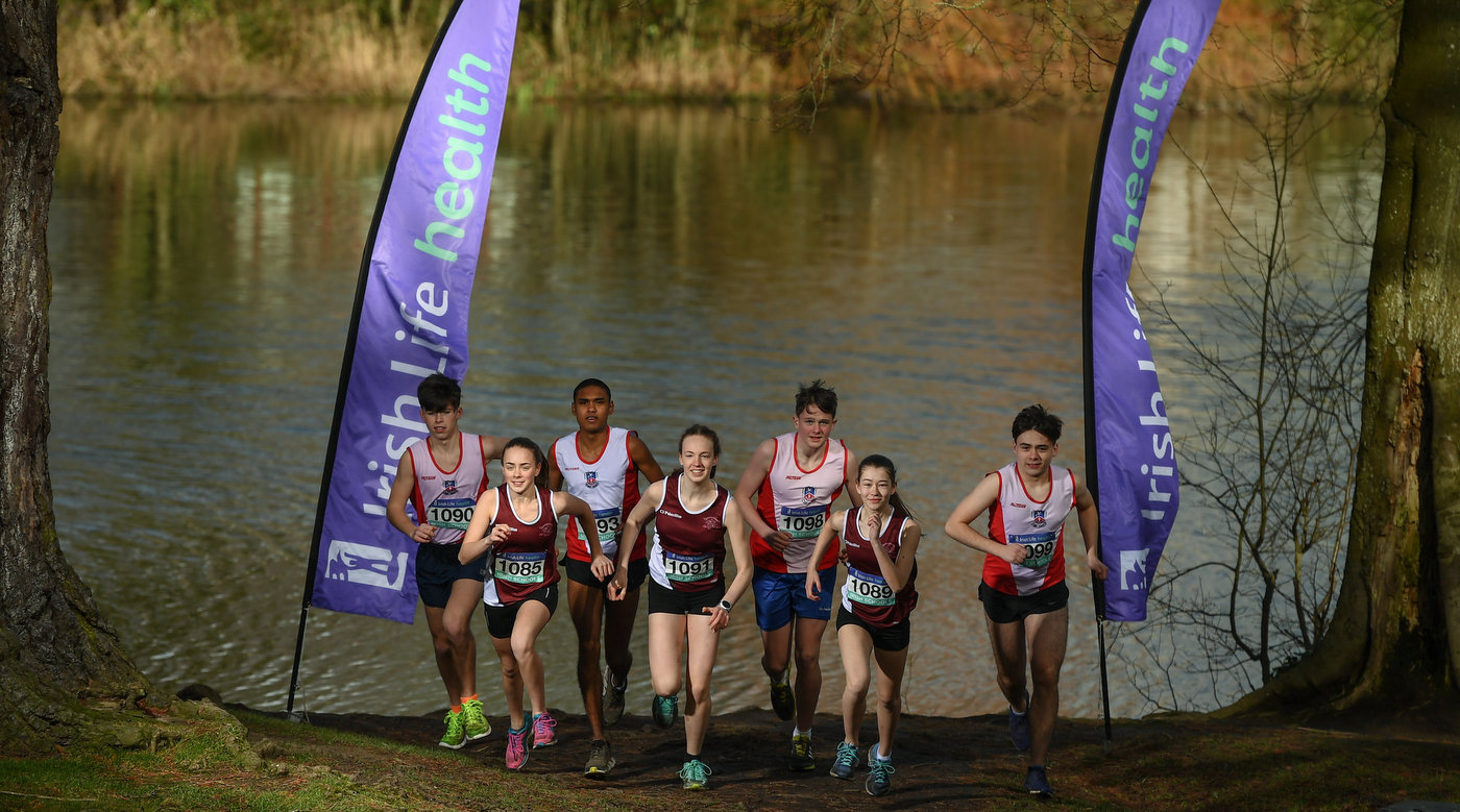 Exciting Irish Life Health All Ireland Schools Cross Country ahead