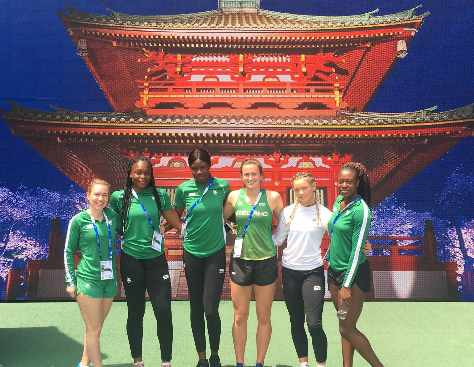 Women's 4x100 10th overall at World Relays in Yokohama
