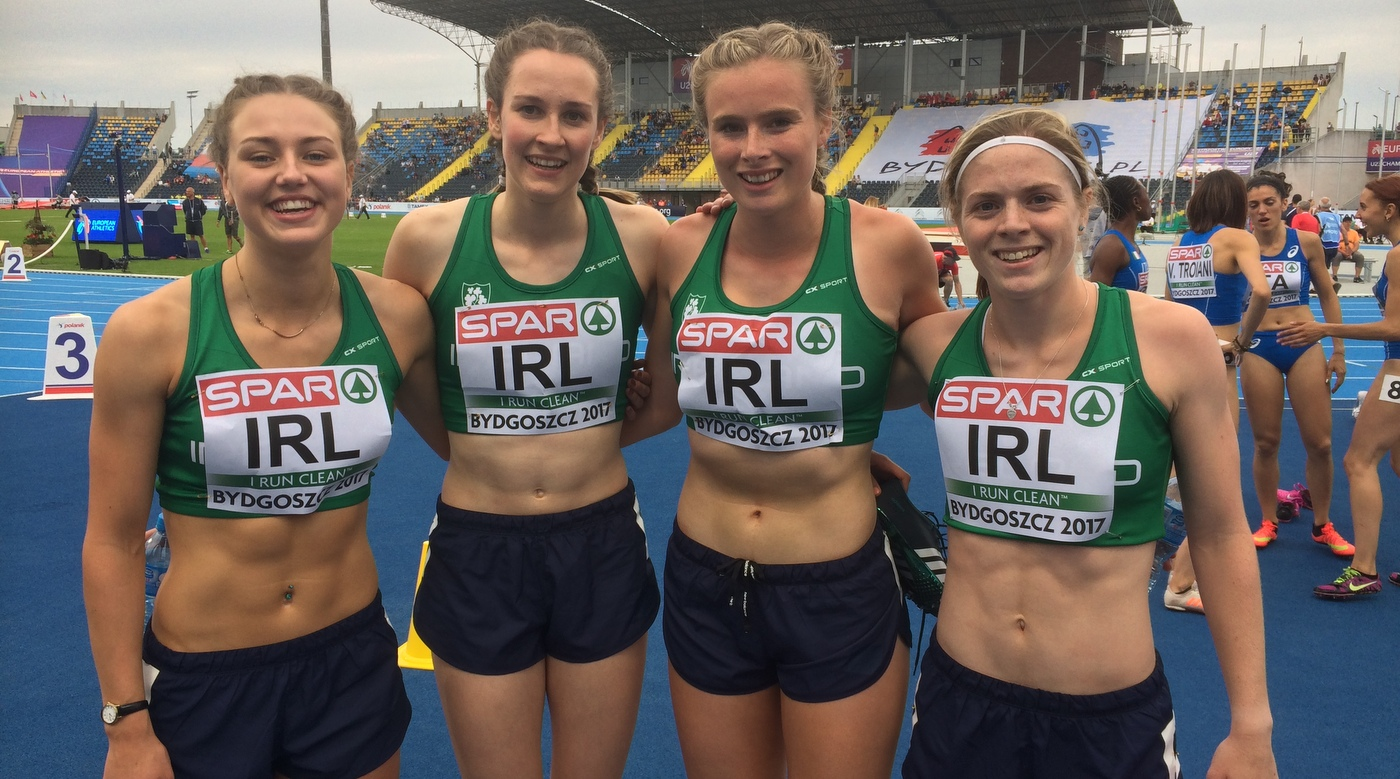 Top 8 performances for Irish relay teams